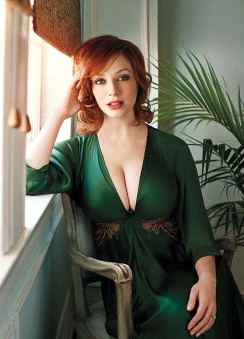 Christina in green