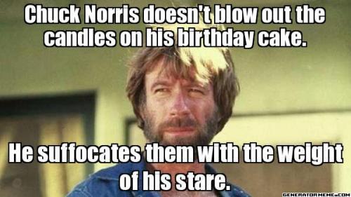 Chuck Norris birthday cake