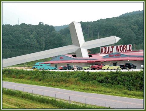 Adult World gets religion.