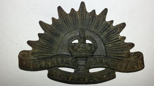 ANZAC badge found
