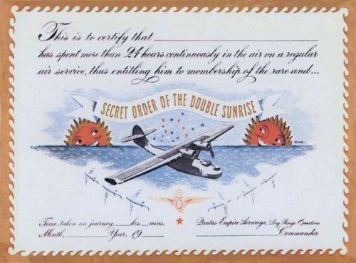 Secret Order of The Double Sunrise certificate.