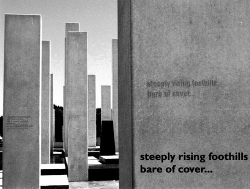 Steeply rising foorhills