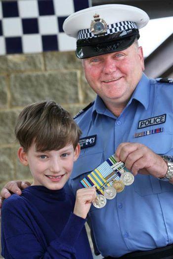 War medals returned.