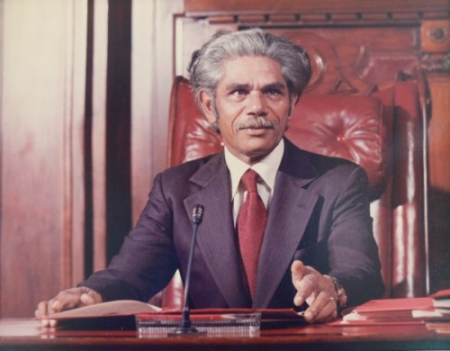 Neville Bonner as President of the Senate