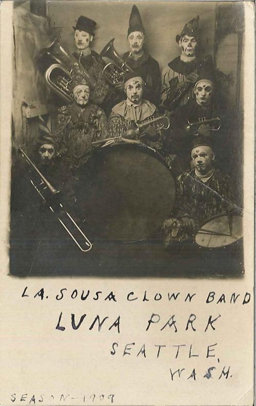 Clowns Luna Park Seattle 1909