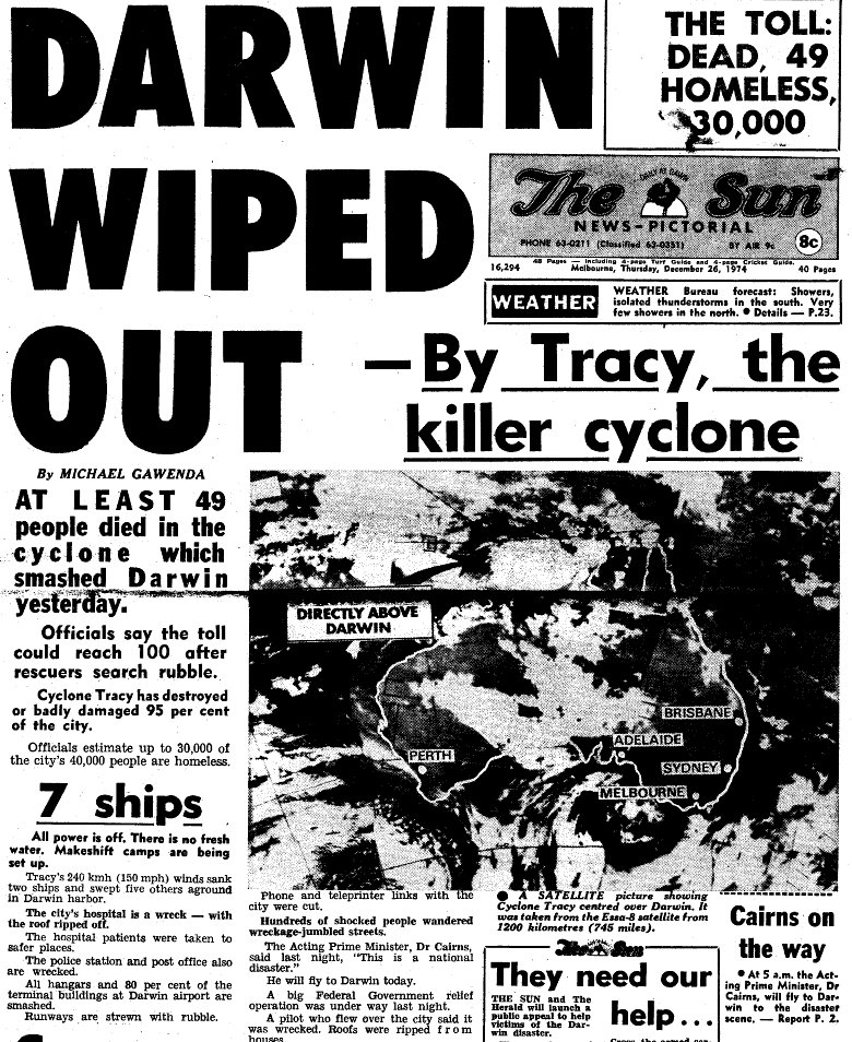 cyclone tracy Posts about facts about cyclone tracy written by max.