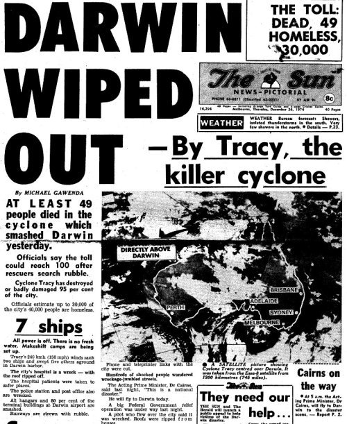 The Sun Cyclone Tracy