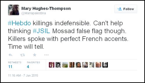 Killers spoke initial tweet