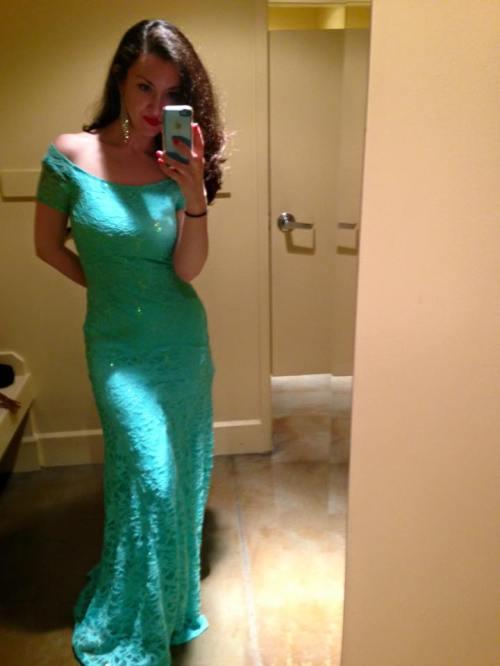 Gina in green