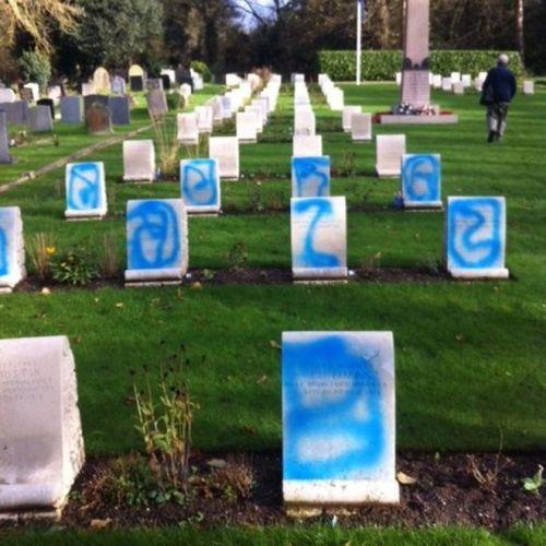 Descecrated war graves