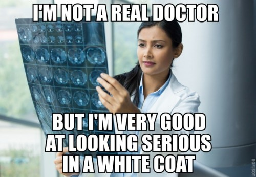 i'm not a real doctor