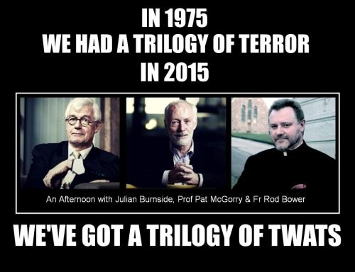 A trilogy of twats