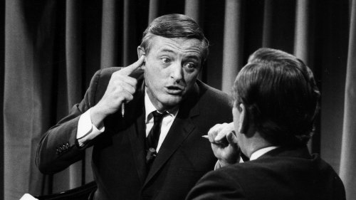William F. Buckley (left) and Gore Vidal square off on Nov. 5, 1968