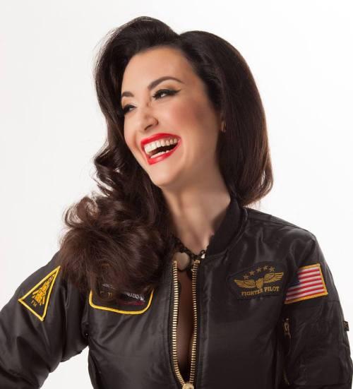 Gina in flight jacket