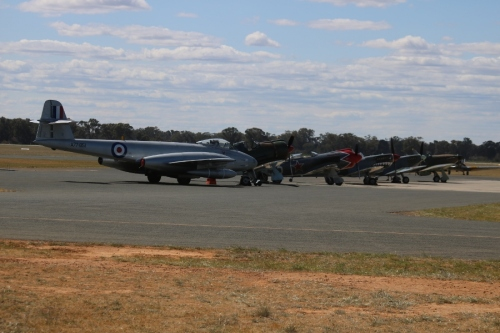 Just part of the lineup at Warbirds Downunder 2018 hosted by the Temora Aviation Museum