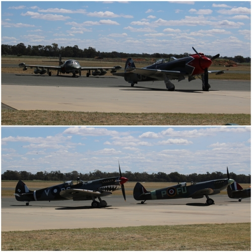 Cessna A-37B Dragonfly, Yakovlev Yak-3M (modified with a radial engine), Supermarine Spitfire Mk. VIII & Mk. XVI - Warbirds Downunder 2018 (Day One)