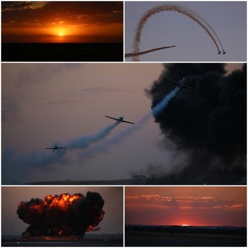 Air Bandits - Juka and Yak-50 sunset aerobatic flying display at sunset during the Avalon Australian International Airshow 2019